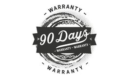 timbre de conception de garantie de 90 jours illustration stock