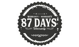 timbre de conception de garantie de 87 jours illustration libre de droits