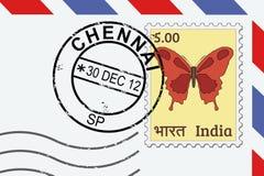 Timbre de courrier de Chennai illustration stock