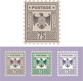 Timbre de courrier de vecteur avec Eagle Badge Shield Seventy Five Photos stock