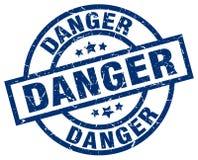 Timbre de danger illustration libre de droits