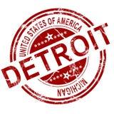 Timbre de Detroit avec le fond blanc Photos stock