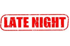 Timbre de fin de nuit sur le fond blanc Photo libre de droits