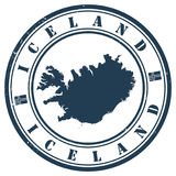 Timbre de l'Islande Image stock
