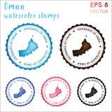 Timbre de l'Oman illustration de vecteur