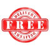 Timbre de la livraison gratuit Photos stock