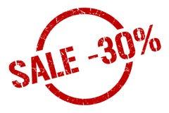 timbre de la vente -30% illustration de vecteur