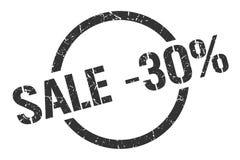 timbre de la vente -30% illustration libre de droits