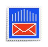 Timbre de lettre image libre de droits