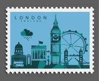 Timbre de Londres Angleterre image libre de droits