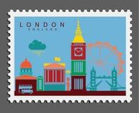Timbre de Londres Angleterre photo stock