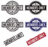 Timbre de membres seulement Photo libre de droits