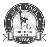 Timbre de New York City illustration de vecteur