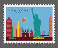Timbre de New York Etats-Unis photographie stock libre de droits