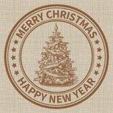 Timbre de Noël Image libre de droits