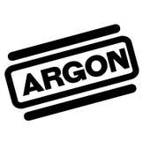 Timbre de noir d'argon Photo stock