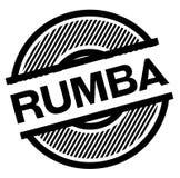 Timbre de noir de rumba illustration de vecteur