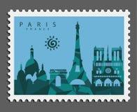 Timbre de Paris France image libre de droits