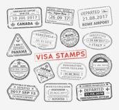 Timbre de passeport de visa Photographie stock