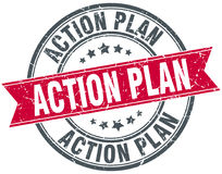 Timbre de plan d'action illustration libre de droits