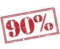 timbre de 90 pour cent sur le fond blanc Photographie stock libre de droits
