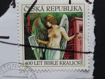 Timbre de République Tchèque images stock