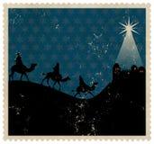 Timbre de Rois mages de Noël illustration de vecteur