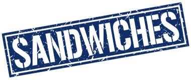 Timbre de sandwichs illustration stock