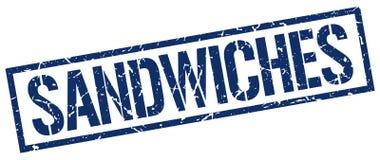 Timbre de sandwichs illustration de vecteur