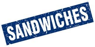 Timbre de sandwichs illustration libre de droits