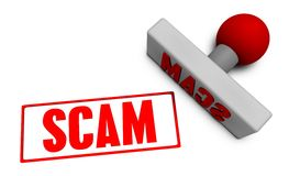 Timbre de Scam Photo stock