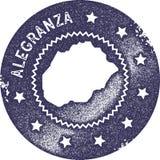 Timbre de vintage de carte d'Alegranza illustration libre de droits