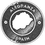 Timbre de vintage de carte d'Alegranza illustration de vecteur