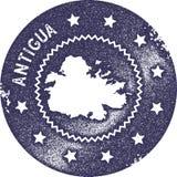 Timbre de vintage de carte de l'Antigua Photographie stock libre de droits