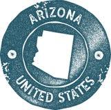 Timbre de vintage de carte de l'Arizona Illustration de Vecteur