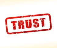Timbre des textes de confiance illustration de vecteur