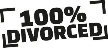 Timbre divorcé par 100% illustration de vecteur