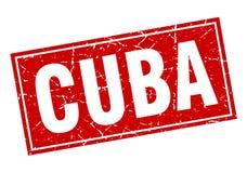 Timbre du Cuba illustration de vecteur