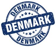 Timbre du Danemark illustration stock