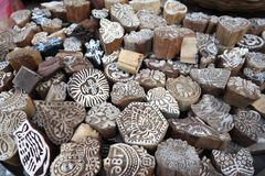 Timbre en bois indien Images libres de droits