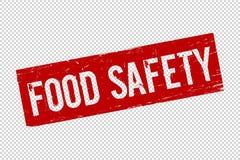 Timbre en caoutchouc de joint de place rouge grunge de sécurité alimentaire illustration libre de droits
