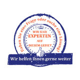 Timbre expert allemand Image stock