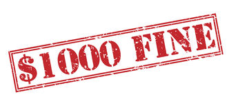 timbre $1000 fin Photos stock