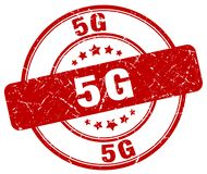 timbre 5g rouge Photo stock