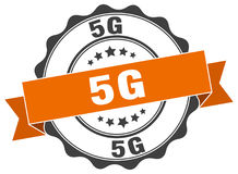 timbre 5g sceau Image stock