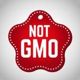 Timbre gratuit rouge d'OGM pour le produit alimentaire Images libres de droits