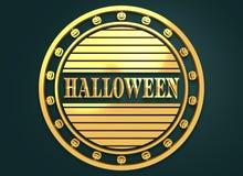 Timbre gravé avec le texte de Halloween Image libre de droits