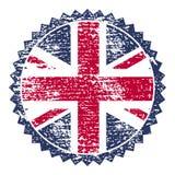 Timbre grunge de la Grande-Bretagne avec le drapeau des syndicats Illustration de vecteur Photographie stock