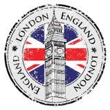 Timbre grunge en caoutchouc Londres Grande-Bretagne Images stock