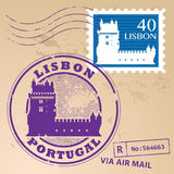 Timbre Lisbonne réglée Images stock